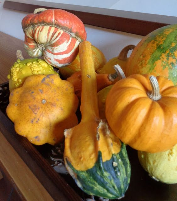Fall decorations with pumpkins - Decorazioni autunnali con le zucche