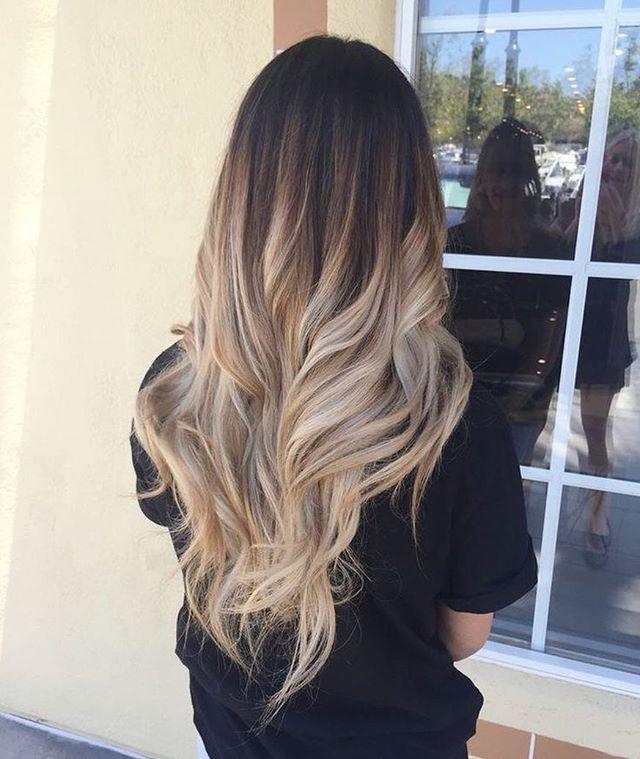 Blonde ombré hair color #blondebalayage #haircolor