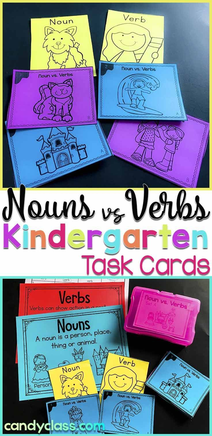 Students sort between nouns and verbs with this hands-on activity. Use the anchor charts to introduce this important grammar concept. Optional games can be along with recording sheets. Includes connecting Common Core standards. This is geared for kindergarten, but it can be used in a first grade class for intervention or extra practice.