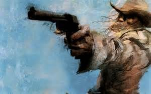 Cowboy revolver art Wallpapers Pictures Photos Images