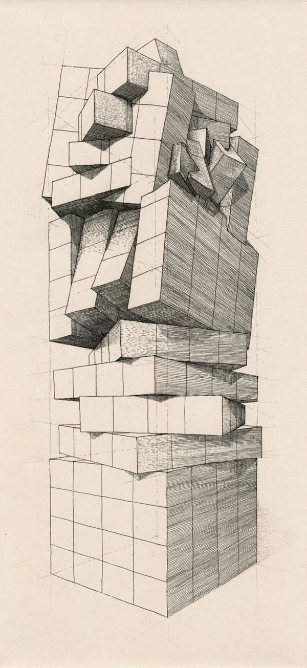 The Geometry of Living - Towers by Martin Reznik, via Behance