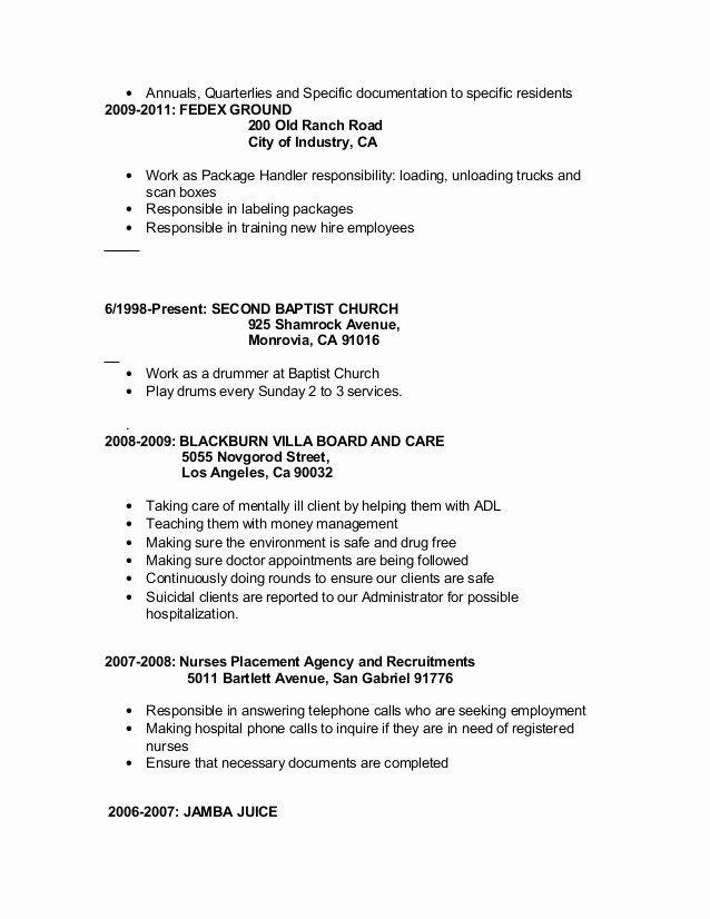 Fedex Package Handler Resume Best Of Medical Resume 2013 Medical Resume Resume Medical Receptionist