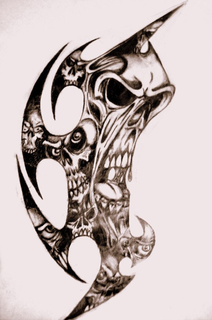 tribal skulls by tatshack1 designs interfaces tattoo design 2010 2015 ...