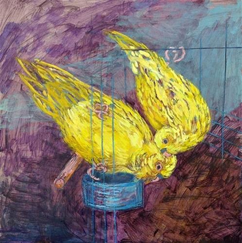 Yellow Parrots by Rachel Grace Fairfax