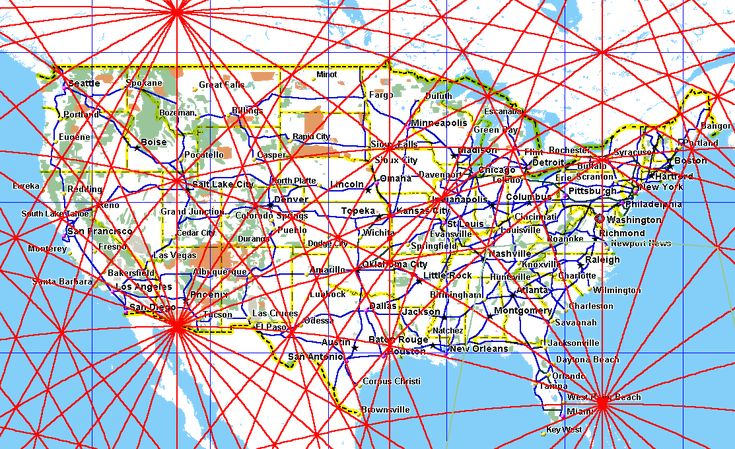 Magnetic Ley Lines in America | google earth overlay for ley lines and energy lines
