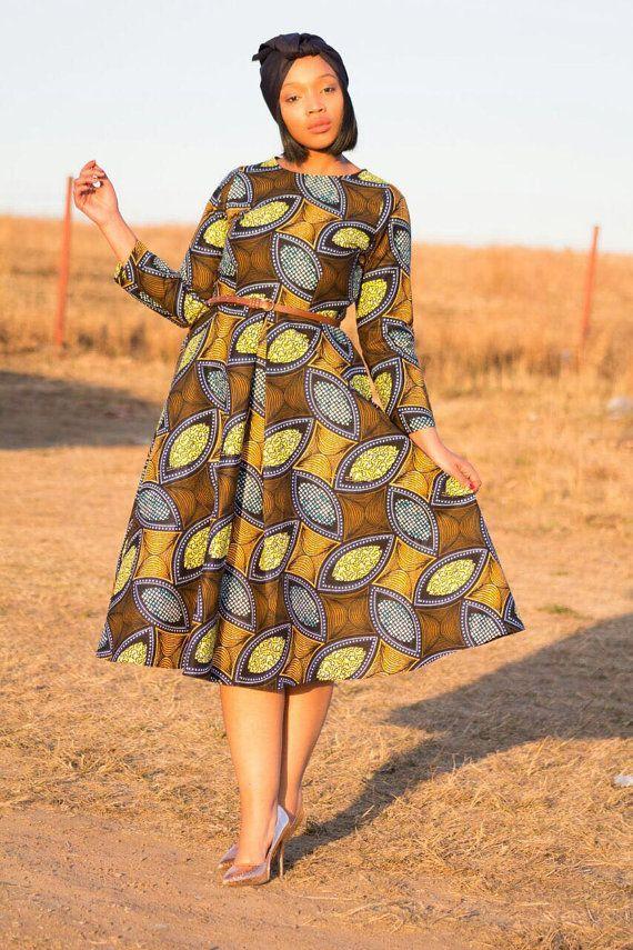 African print dress ankara dress african by EssieAfricanPrint