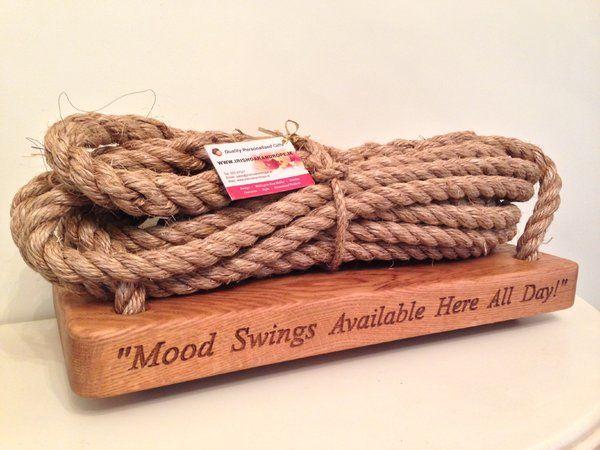 Personalised oak Garden Swings