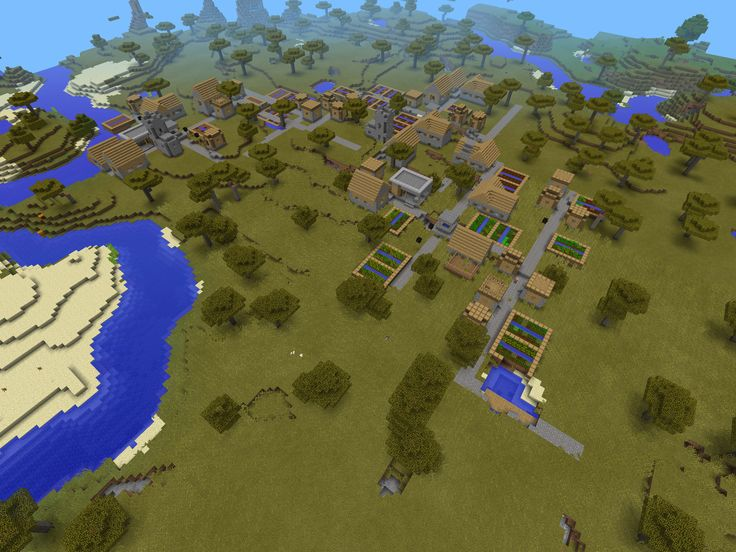Minecraft PE- MASSIVE VILLAGE SEED!!! Seed-1388582293 I used it and it really works!