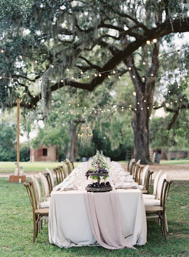Reception under the trees   Photography: Hannah Alyssa