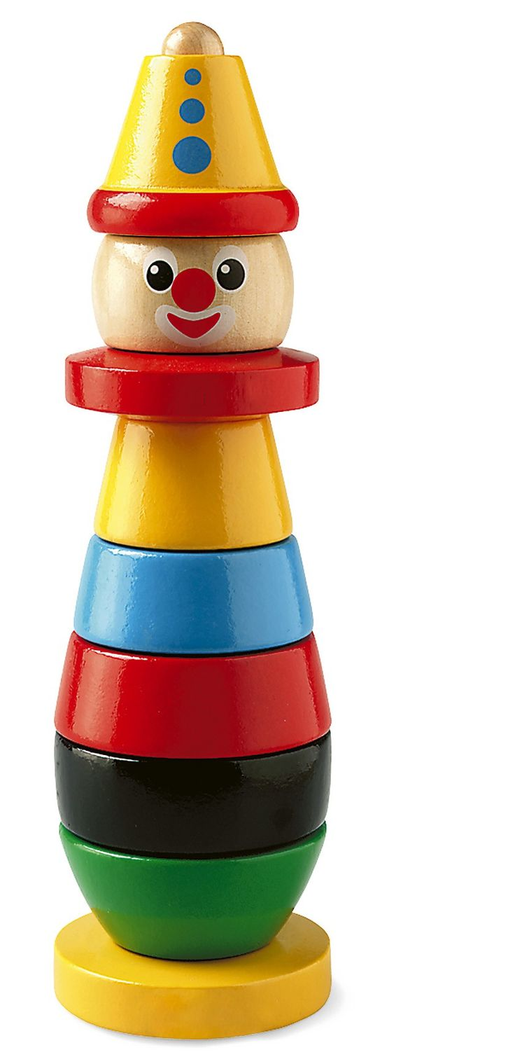 Brio Stacking Clown -  The pile with a smile. The most popular BRIO stacking toy since 1955. For grasping, sorting and sequencing fun. 9 pieces. Height 230 mm.  $29.99
