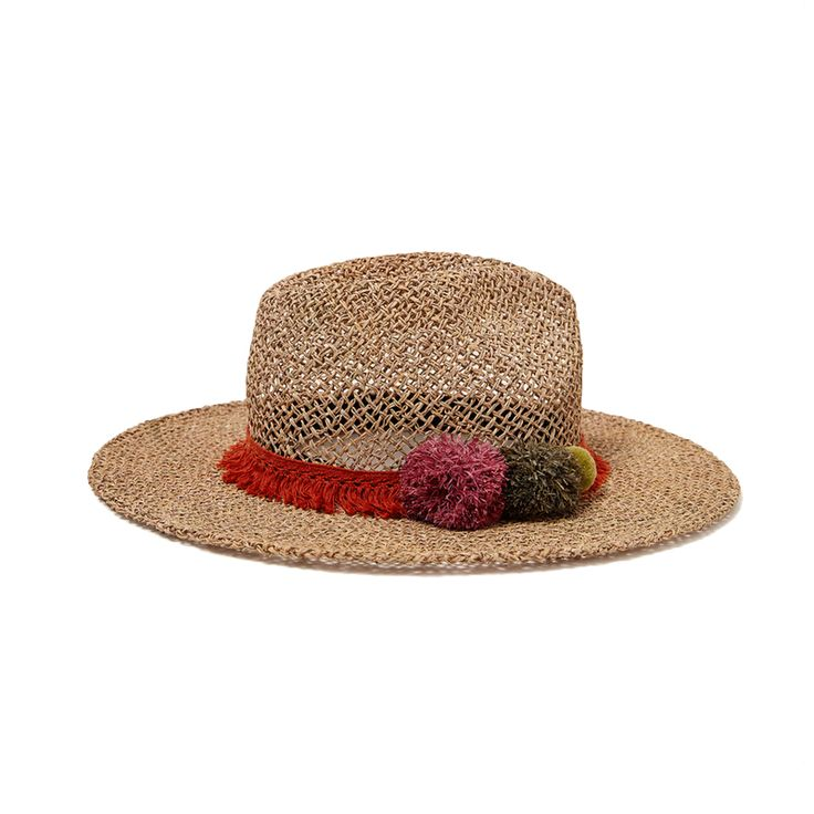 - Sun protection is key—and especially cool in a pom-adorned hat.