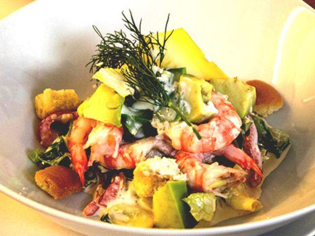 Caesarsallad med räkor (kock Ingrid - Stockholm)