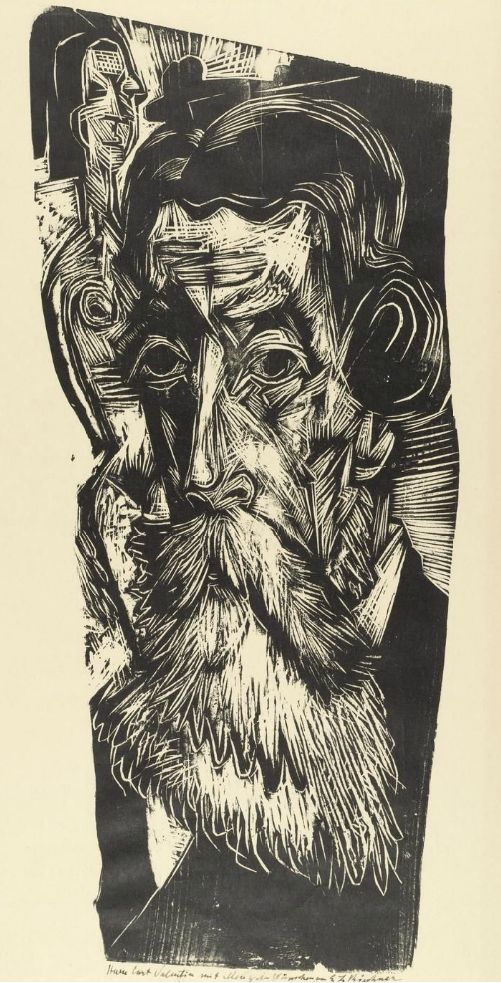 By Ernst Ludwig Kirchner (1880-1938), 1918, Head of Ludwig Schames (German art dealer.)