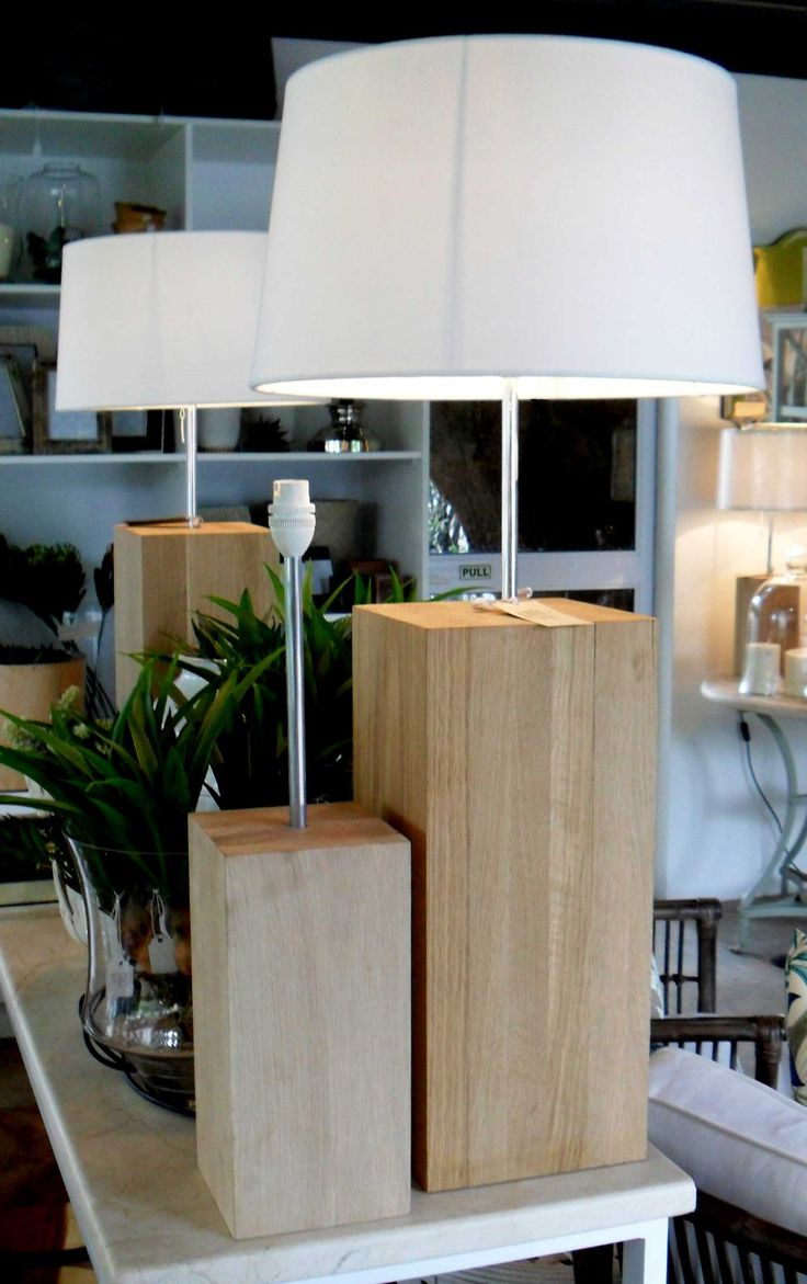 In Stock - Solid Oak Lampbase, Small and Large - Inside Out Home Boutique - Please check stock availability