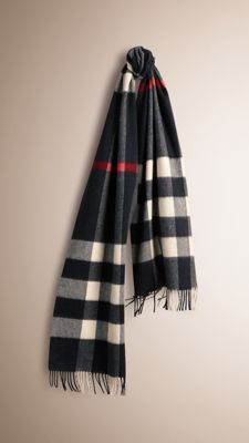 Burberry Giant Exploded Check Cashmere Scarf - A warm cashmere scarf with a giant exploded check design, woven in Scotland at a mill with a 200-year history. Discover the scarves collection at Burberry.com
