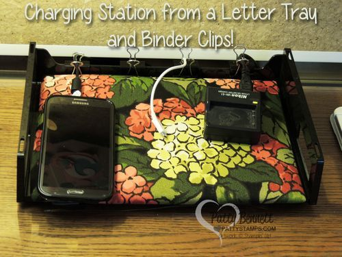 Diy Charging Station Made From A Recycled Letter Tray And