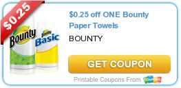 USA Free Printable Coupon Bounty Paper Towels Sept 10 2014