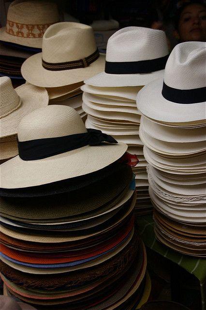 Sombreros de paja toquilla de Ecuador (el verdadero Panama Hat)...