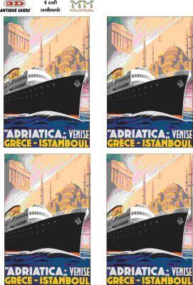 AC050 3D Antik Kart 3 Boyutlu Kağıt Sanatı Kiti