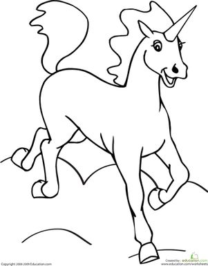 Color the Unicorn Printables