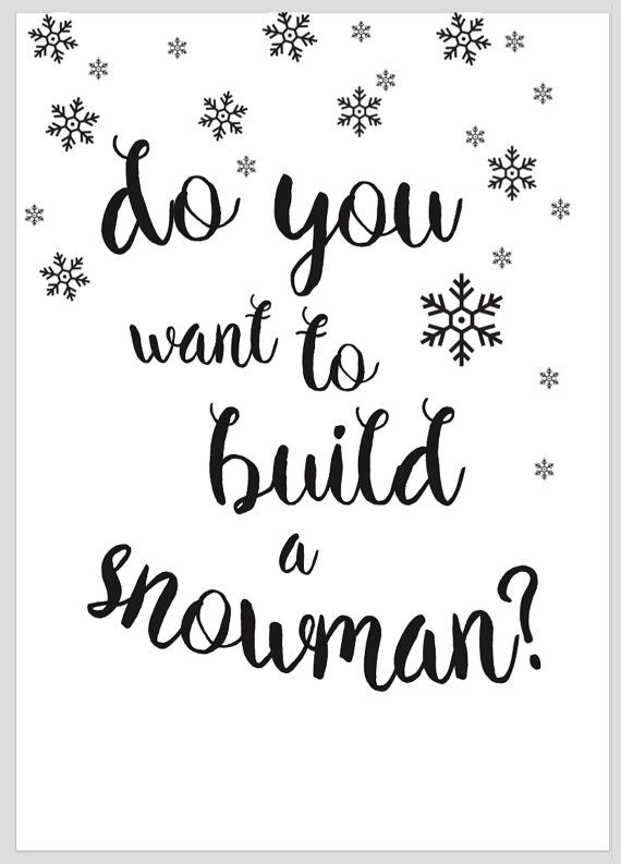 Kids Bedroom Decor Fun Children Print- Do You Want To Build A Snowman- Frozen  ***INSTANT DOWNLOAD**  A3 Size- can be printed to A4 also by choosing fit to page To add some colour print onto coloured paper or use as a DIY colouring in art!  Instant, funky home décor printable from your own home! Be the envy of your friends with your unique print art. Make your home memorable to every person who steps through the door! Make it your own simply with these easy printable designs that are ready…
