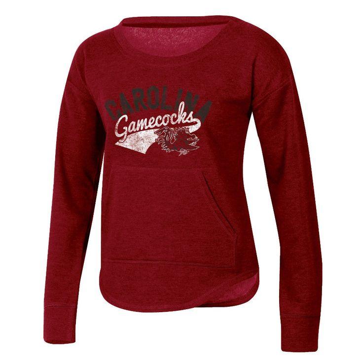 NCAA Women's Campfire Long Sleeve Crewneck Fleece Shirt South Carolina Gamecocks - XL, Multicolored