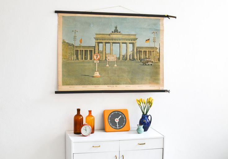 Berlin Poster, Berlin Souvenirs, Berlin Karte, Brandenburger Tor, alte Fotografie, Wandkarte, Schulkarte Berlin Ref: 363 by MightyVintage on Etsy