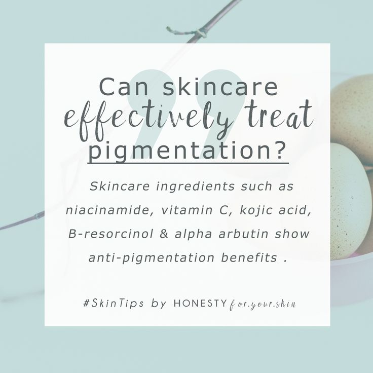 Pigmentation and hyperpigmentation can both be reversed with the right kind of skincare - skincare containing ingredients that temporarily reduce your skins manufacture of melanin - want to know exactly which ones work? Click above to find out...