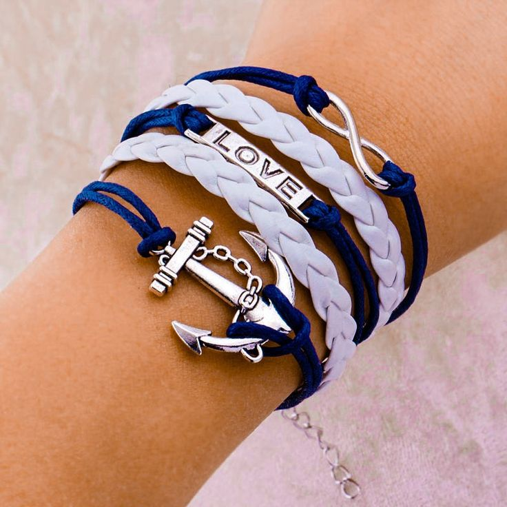 """Vintage Braided """"Your Love is the Anchor"""", Bracelets https://www.shopfancyphones.com/collections/accessories-limited-edition/products/vintage-braided-anchors-love-rudders-bracelet"""
