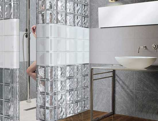 Best Bathroom Ideas Images On Pinterest Glass Blocks Wall