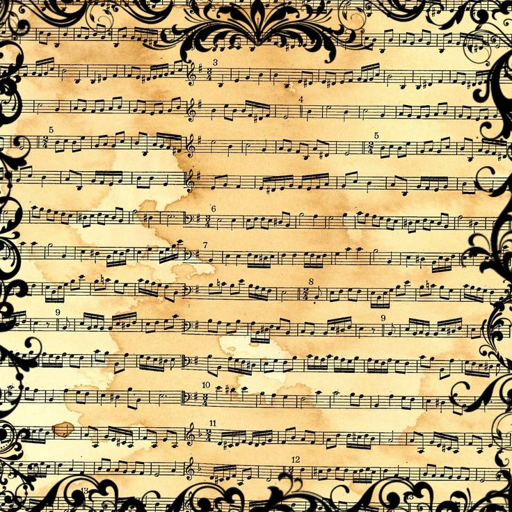 Best Music  Printable Images On   Vintage Sheets