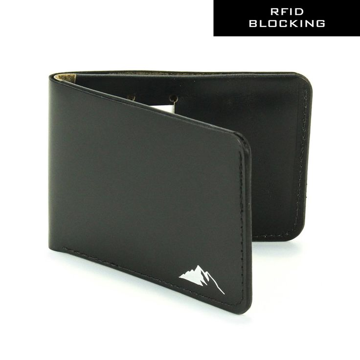 RFID Blocking Mens Leather Wallet - Slim Leather Bifold Wallet by Rugged Material ** Details can be found by clicking on the image.
