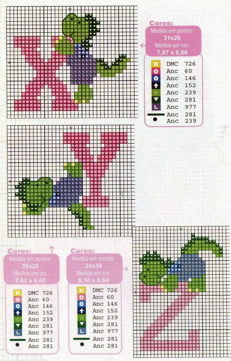 Oh my Alfabetos!: Alfabeto con dinosaurios, para punto de cruz.