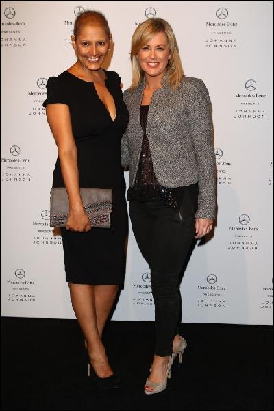 Sally Obermeder and Sam Armytage at MBFWA. Photo: Getty Images