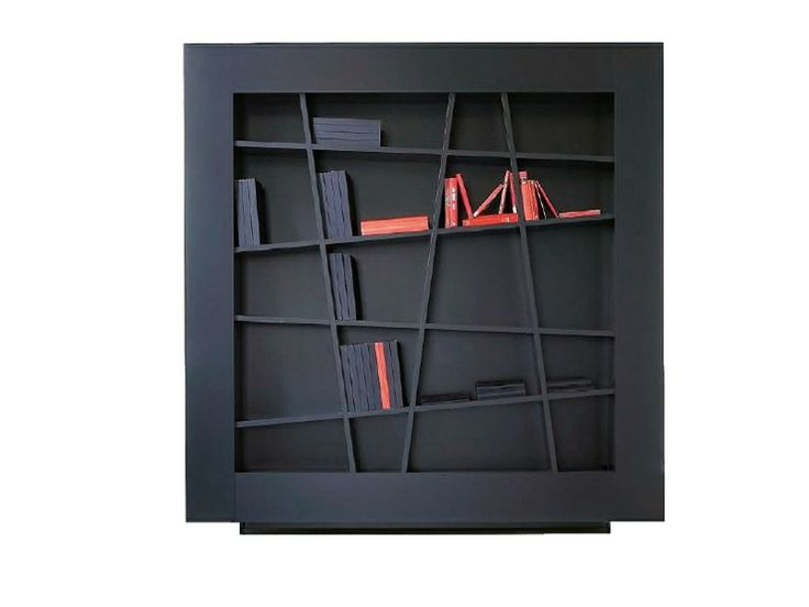 Attractive Wall Mounted Lacquered Bookcase LINES By Ligne Roset Design Peter Maly