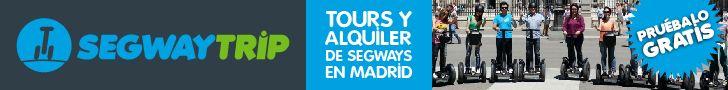 Diseño de banner para promoción de tours en segway en Madrid