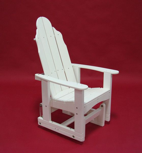 Tailwind Furniture Recycled Plastic Traditional Adirondack Glider Chair
