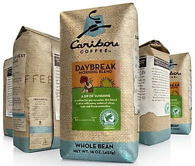 Caribou Coffee package redesign