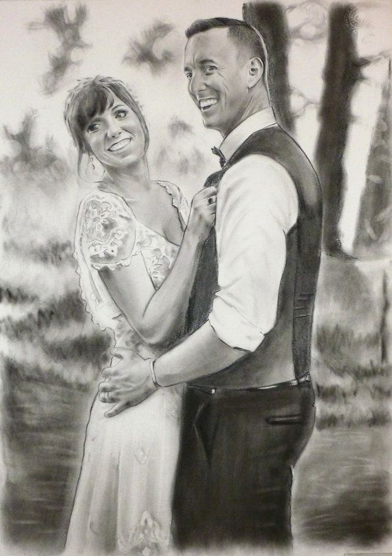 present for man present for him anniversary wedding present for bride husband wedding anniversary gift portrait custom drawing