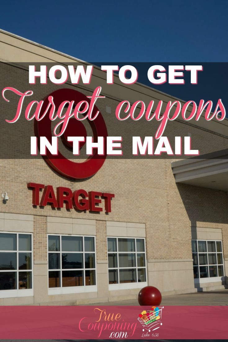 Learn how to get Target coupons in the mail! | Target coupons can be really sought after, and hard to receive. Here's some ways to get on their list and get those coupons in your mailbox! #target #coupon #savings