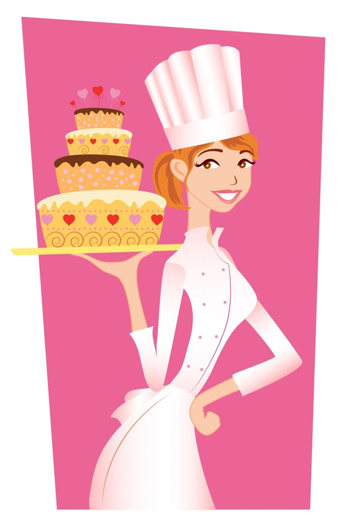 free vector Chef girl  graphic available for free download at 4vector.com. Check out our collection of more than 180k free vector graphics for your designs. #design #freebies #vector