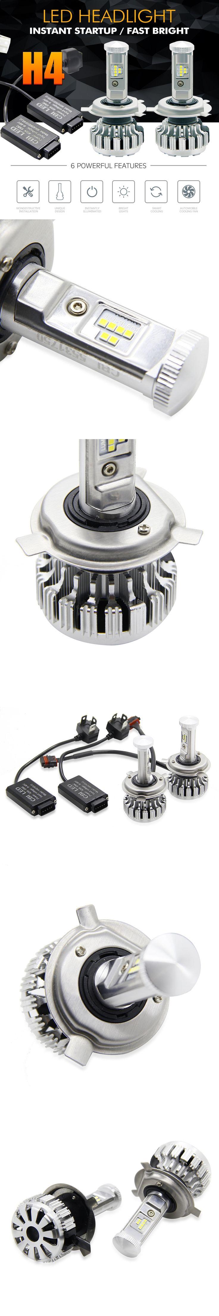 ZOYE H4 LED Car Headlight Bulb Hi-Lo Beam 80W 6500K 8000LM PHILIPS Chips automobiles external light led 12V
