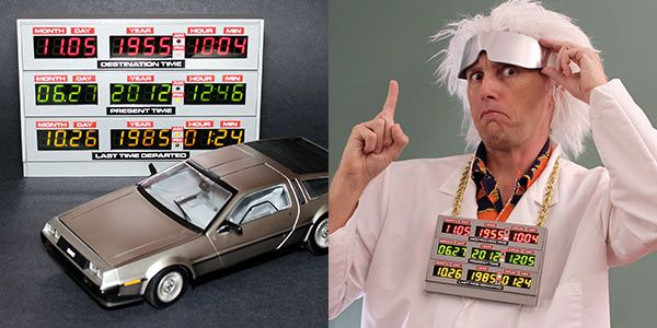 How To Make Your Own DeLorean Time Circuit Clock - Amazing...now maybe I could go back and change 2001...