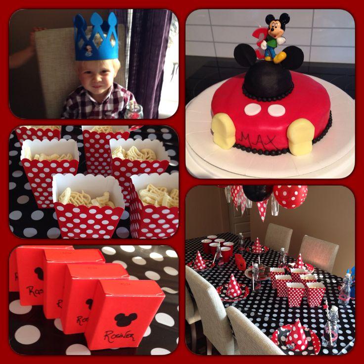 Mikke mus tema i min sønns 3års bursdag