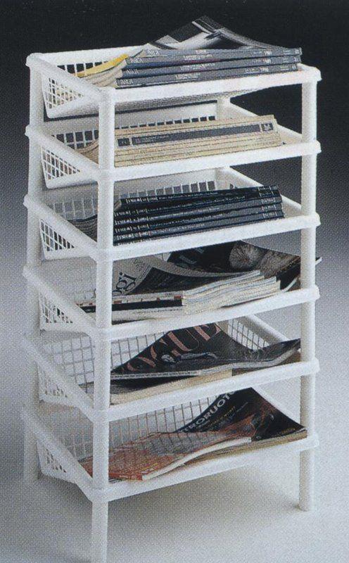 Sana Enterprises 6 Tier Angled Basket Tower for Storage and Organization