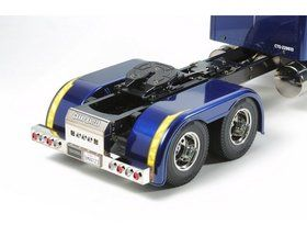 The Tamiya Grand Hauler in 1/14 scale is a radio controlled truck with a realistic ladder frame and a 3-speed gearbox. The suspension is equipped with s...
