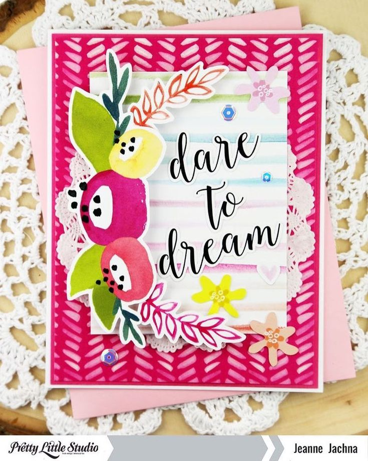 "68 Likes, 1 Comments - Pretty Little Studio (@prettylittlestudio) on Instagram: ""Designer @jeannejachna made this beautiful card with the Tales & Dreams collection! . .…"""