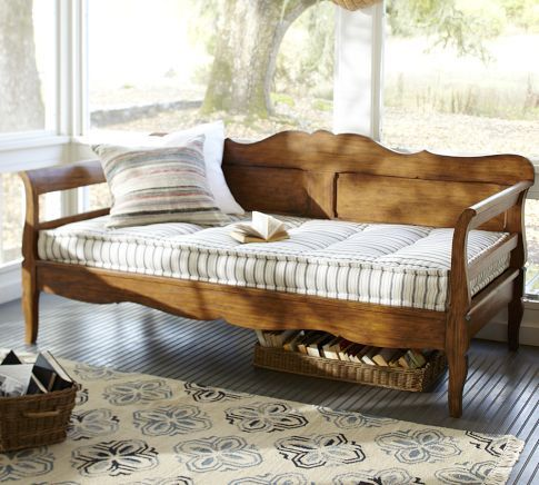 Darby daybed with ticking mattress