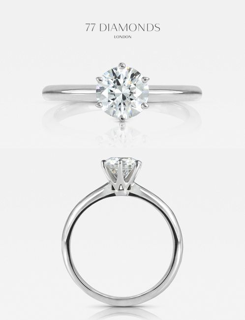 Striking height and poise- our 'Allure' engagement ring #diamonds #engagementrings anillos de compromiso | alianzas de boda | anillos de compromiso baratos http://amzn.to/297uk4t