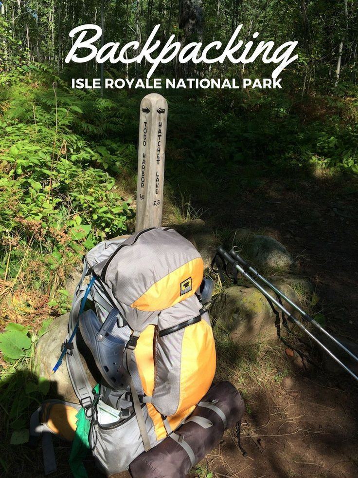 Itinerary for 8 day backpacking trip at Isle Royale National Park